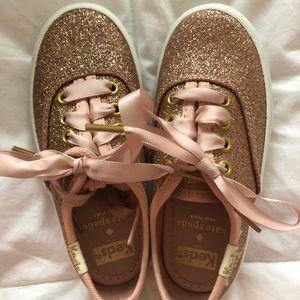 keds kids x kate spade glitter sneakers